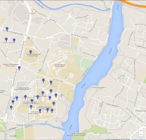 Campus Tertre google maps