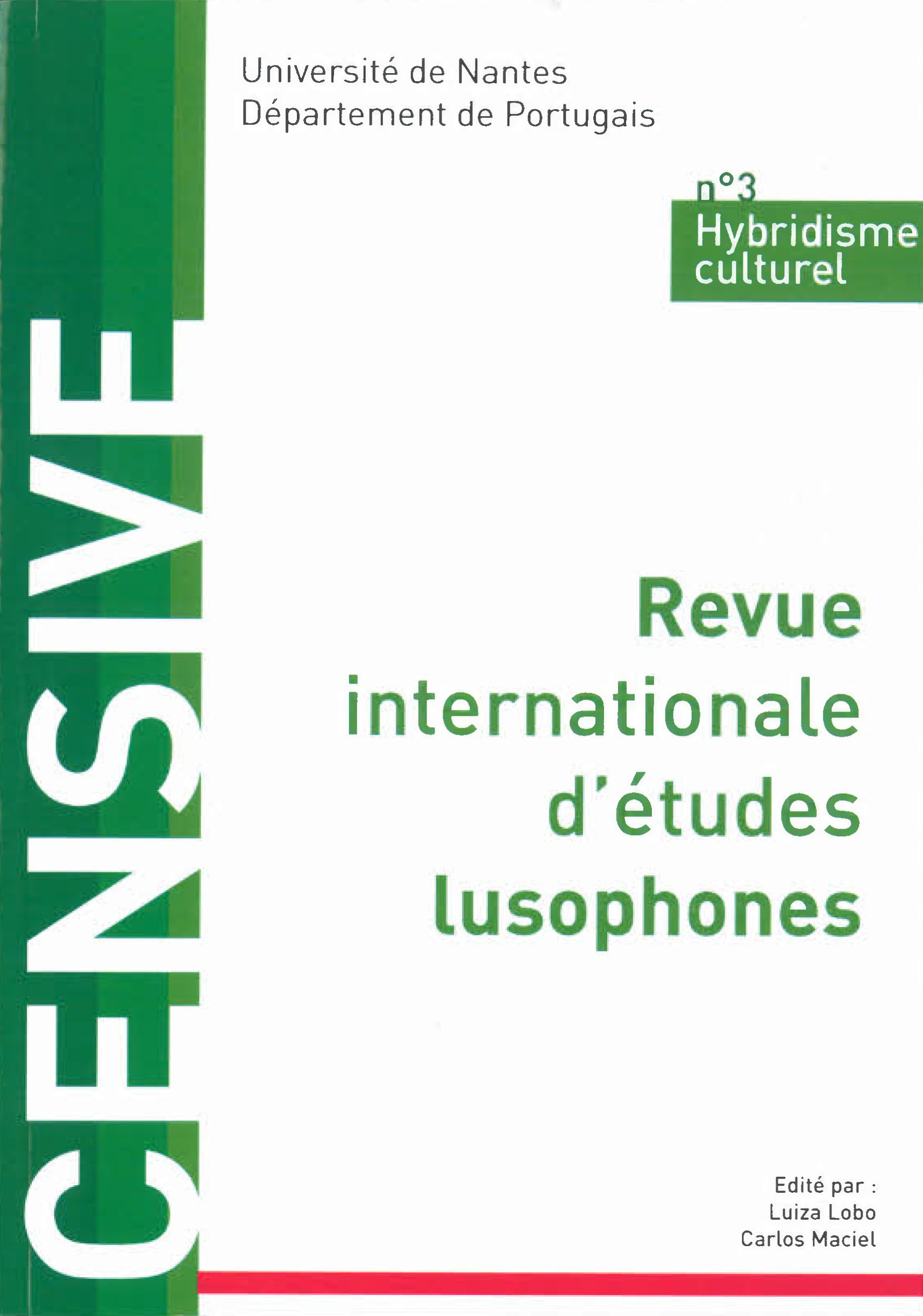 CENSIVE - revue internationale études lusophones