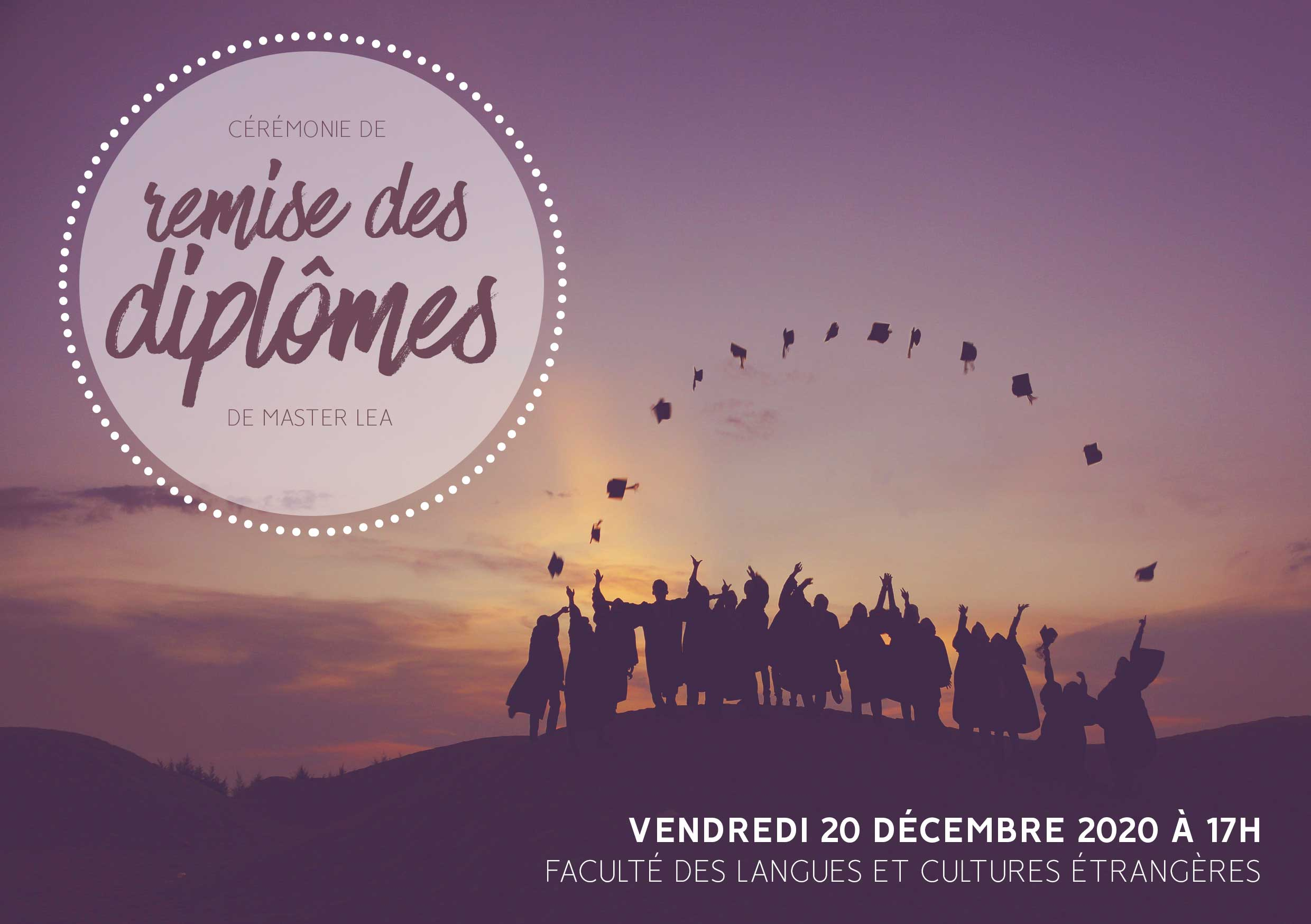 remises de diplômes lea flce univ nantes international commerce logistique